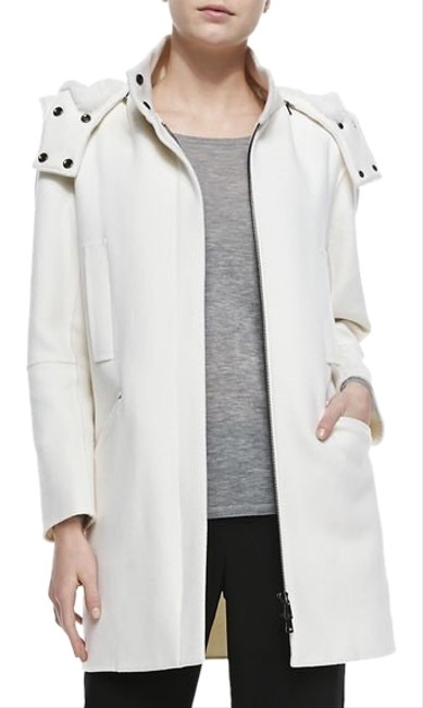 Item - White Lined Hooded Coat Size 4 (S)