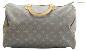 Louis Vuitton Leather Monogram Speedy Tote in Brown