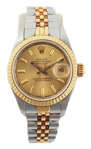 Rolex ROLEX Datejust Automatic Stainless Steel Yellow Gold WoMens Watch 69173