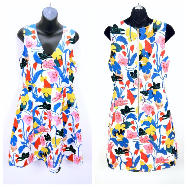 Item - A-line In Morning Floral #f3061 Mid-length Cocktail Dress Size 8 (M)