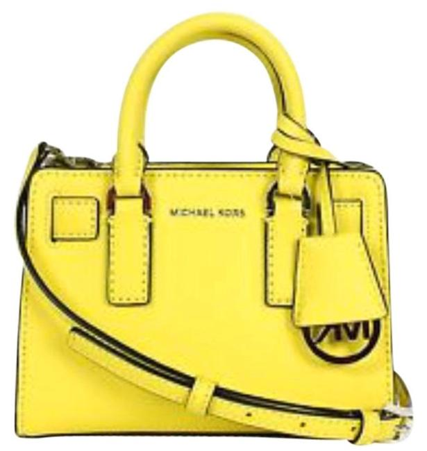 Michael Kors Dillion Xsmall Saffiano Cross Body Canary Yellow Genuine Leather Messenger Bag Michael Kors Dillion Xsmall Saffiano Cross Body Canary Yellow Genuine Leather Messenger Bag Image 1
