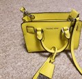 Michael Kors Dillion Xsmall Saffiano Cross Body Canary Yellow Genuine Leather Messenger Bag Michael Kors Dillion Xsmall Saffiano Cross Body Canary Yellow Genuine Leather Messenger Bag Image 5