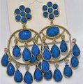Amrita Singh Lapis Blue Quogue Hamptons & Gold Chandelier Earrings Amrita Singh Lapis Blue Quogue Hamptons & Gold Chandelier Earrings Image 2