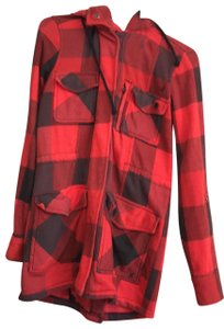Hurley red and black Jacket