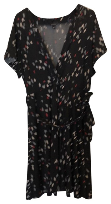 Item - Black Red White Gray Modern Faux Short Work/Office Dress Size 22 (Plus 2x)