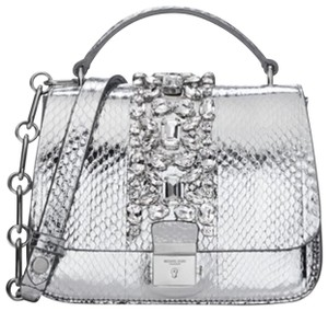 Michael Kors Collection Satchel in silver
