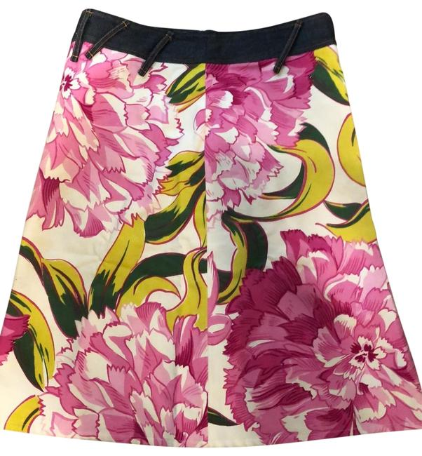 Item - Floral with Pink and Green and Cream Background Ittierre Skirt Size 8 (M, 29, 30)