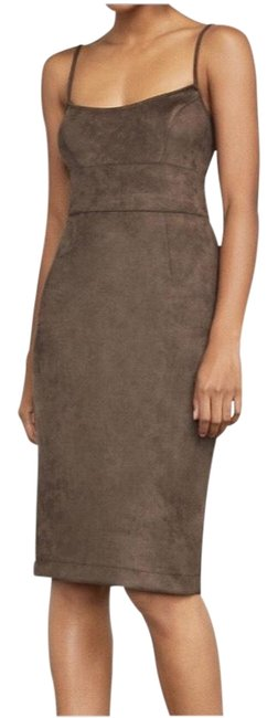 Item - Brown Alese Faux-suede Mid-length Night Out Dress Size 4 (S)