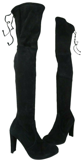 Item - Black Highland Over The Knee Suede Boots/Booties Size US 9.5 Regular (M, B)