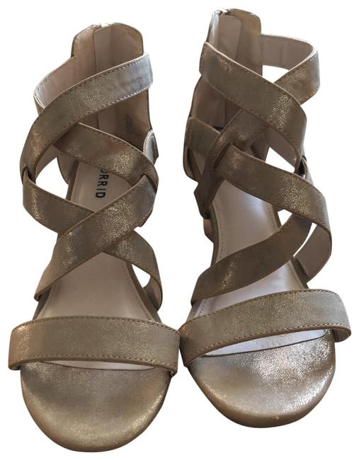 Item - White Gold Strappy Iridescent Wedges Size US 9.5 Wide (C, D)
