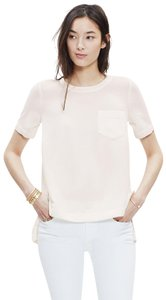 Madewell Button Back Crepe Vince Top ivory