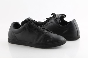 Fendi Black Leather Low-top Sneakers Shoes