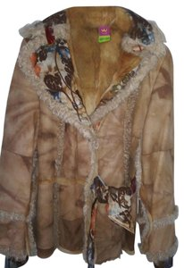 Save The Queen light brown Leather Jacket