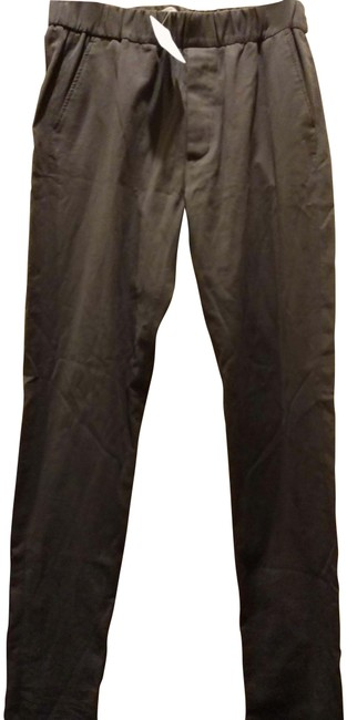 Item - Taupe Black 50 Made In Italy Ribbed Elastic Waist Pants Size 14 (L, 34)