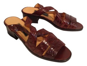 Cole Haan Embossed Sport Rust Sandals