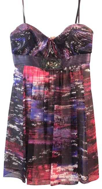 Item - Purple and Pink Strapless Short Cocktail Dress Size 4 (S)