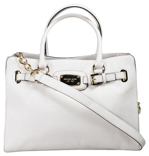 Preload https://img-static.tradesy.com/item/26297788/michael-kors-hamilton-large-satchel-chain-new-with-tags-vanilla-white-creamgold-leather-tote-0-1-540-540.jpg