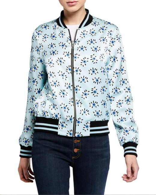 Alice + Olivia Paisley Eye Bomber Multi Jacket Image 1