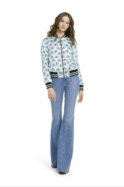 Alice + Olivia Paisley Eye Bomber Multi Jacket Image 2