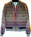 Alice + Olivia Paisley Eye Bomber Multi Jacket Image 3
