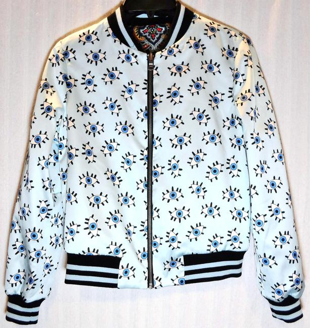 Alice + Olivia Paisley Eye Bomber Multi Jacket Image 5