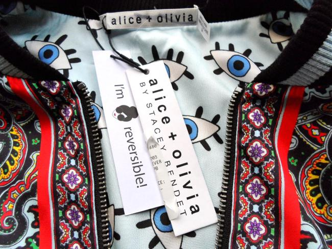 Alice + Olivia Paisley Eye Bomber Multi Jacket Image 6