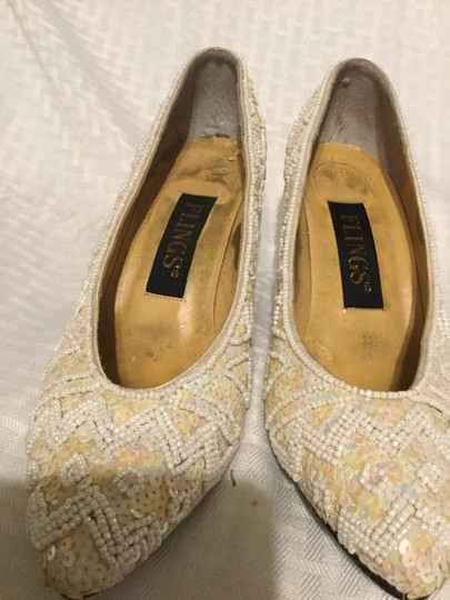 Flings Cream and White Pumps Image 2