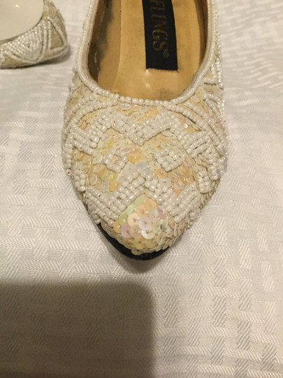 Flings Cream and White Pumps Image 6