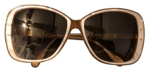 Dolce&Gabbana Dolce & Gabbana D&G Tan and Mother of Pearl Oversized Sunglasses