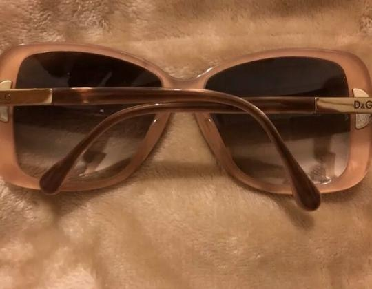 Dolce&Gabbana Dolce & Gabbana D&G Tan and Mother of Pearl Oversized Sunglasses Image 1