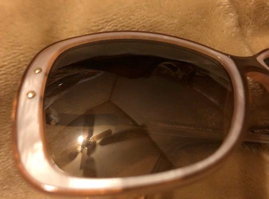 Dolce&Gabbana Dolce & Gabbana D&G Tan and Mother of Pearl Oversized Sunglasses Image 7