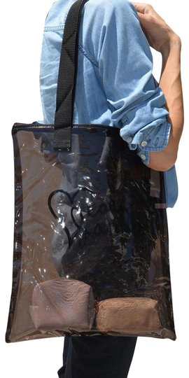 Preload https://img-static.tradesy.com/item/26298021/marc-by-marc-jacobs-i-heart-clear-lunch-black-acrylic-tote-0-1-540-540.jpg