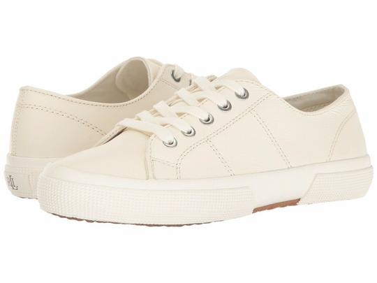 Polo Ralph Lauren Jolie Leather Women's Sneakers Lace- Up White Athletic Image 1