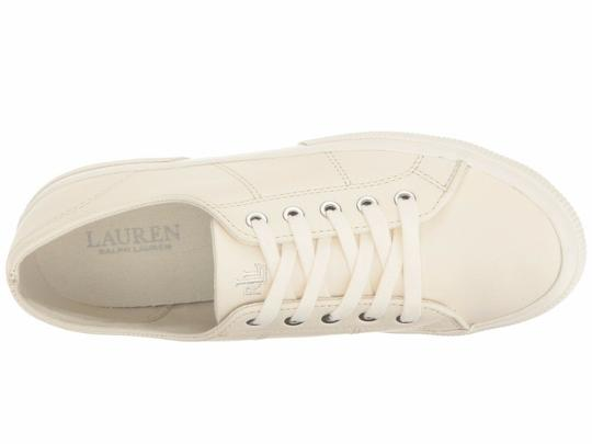 Polo Ralph Lauren Jolie Leather Women's Sneakers Lace- Up White Athletic Image 2