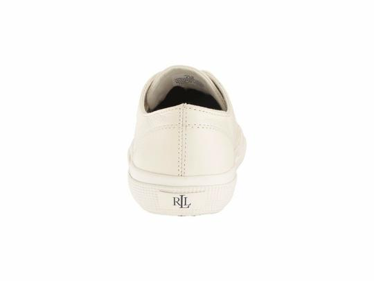 Polo Ralph Lauren Jolie Leather Women's Sneakers Lace- Up White Athletic Image 5