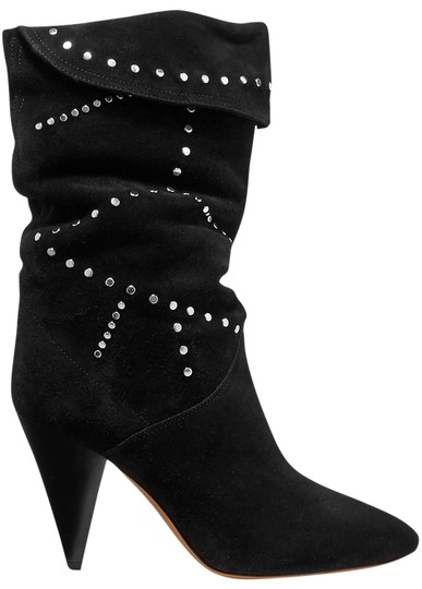 Preload https://img-static.tradesy.com/item/26298065/isabel-marant-black-lestee-studded-suede-pointed-slouch-bootsbooties-size-eu-40-approx-us-10-regular-0-1-540-540.jpg
