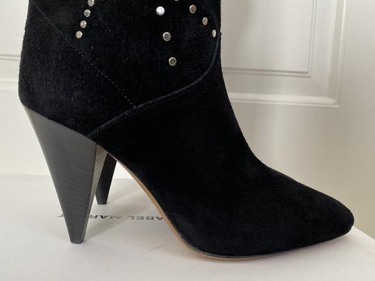 Isabel Marant Suede Pointed Toe Studded Black Boots Image 6