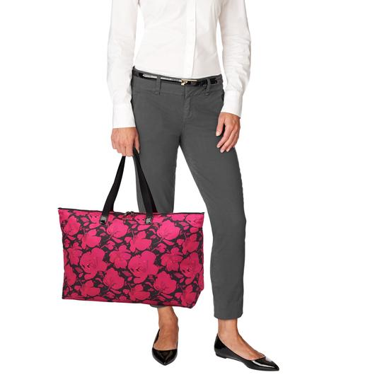 Tumi Lightweight Packable Duffel Just In Case Magenta Travel Bag Image 10