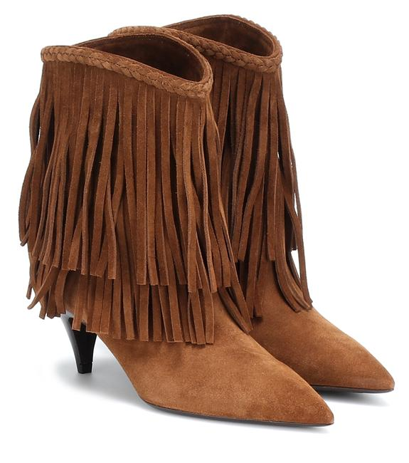 Item - Brown Charlotte Suede Fringed Suede Pointed Boots/Booties Size EU 38 (Approx. US 8) Regular (M, B)