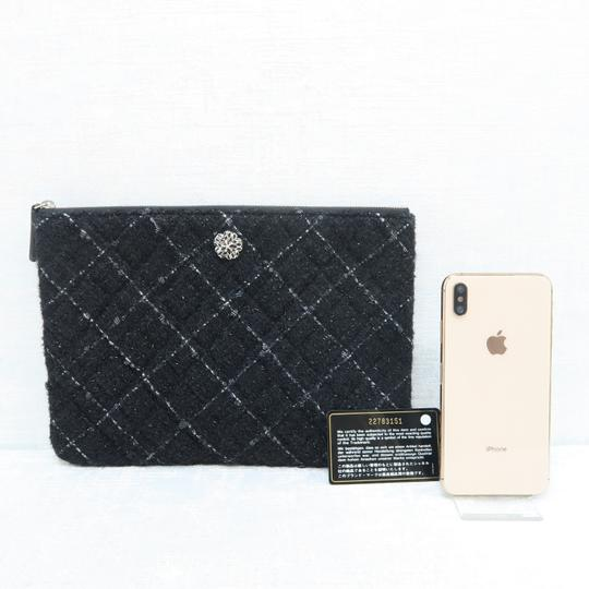 Chanel Quilted Pouch Lambskin Black Clutch Image 1