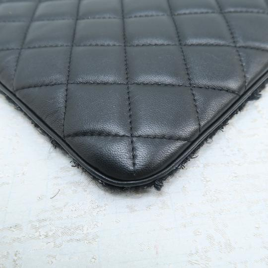 Chanel Quilted Pouch Lambskin Black Clutch Image 7