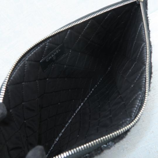 Chanel Quilted Pouch Lambskin Black Clutch Image 9