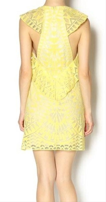 BCBGMAXAZRIA short dress yellow on Tradesy Image 1