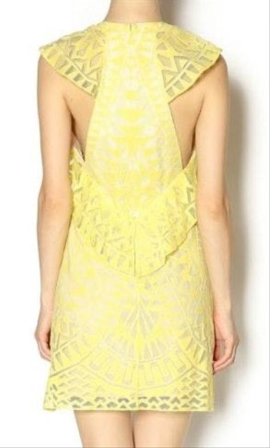 BCBGMAXAZRIA short dress yellow on Tradesy Image 2