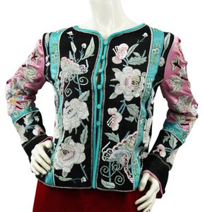 Valentino Embellished Evening Jacket 8 Top multicolor