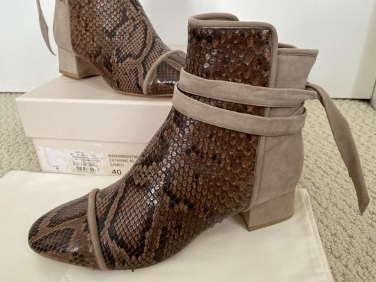 Alexandre Birman Snakeskin Suede Leather Brown Boots Image 10