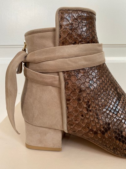 Alexandre Birman Snakeskin Suede Leather Brown Boots Image 11