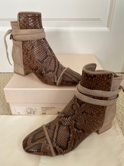 Alexandre Birman Snakeskin Suede Leather Brown Boots Image 2