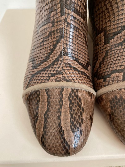 Alexandre Birman Snakeskin Suede Leather Brown Boots Image 4