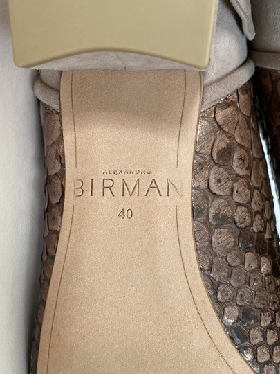 Alexandre Birman Snakeskin Suede Leather Brown Boots Image 8